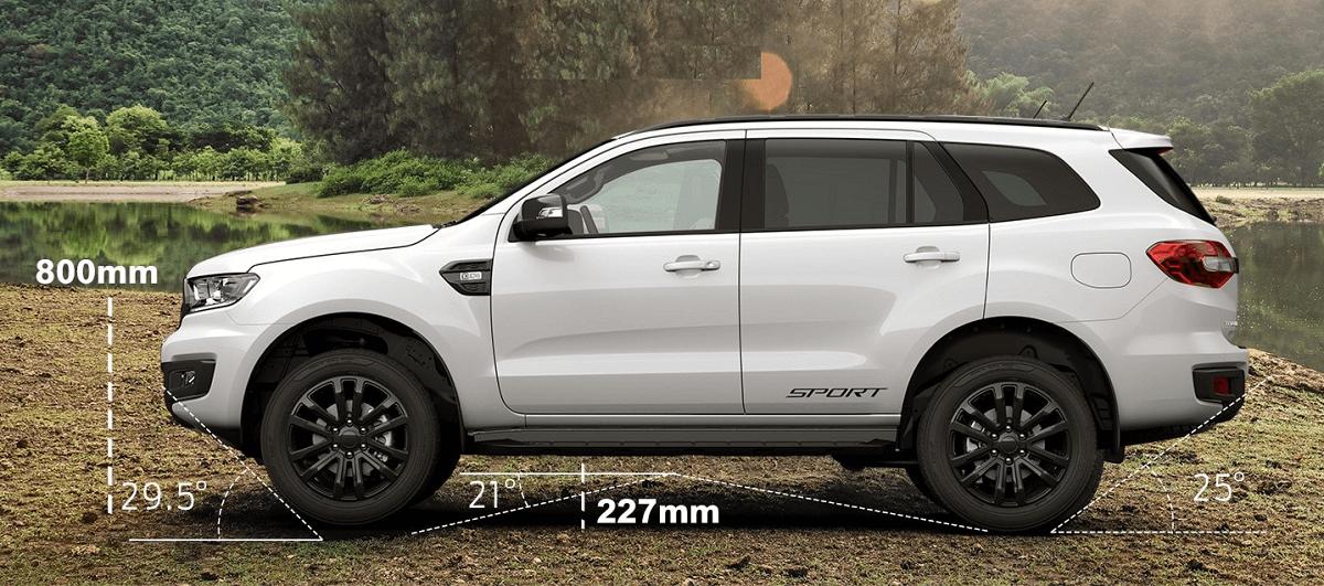 kích thước xe xeNội Thất ford Everest 4wd Sport 2021