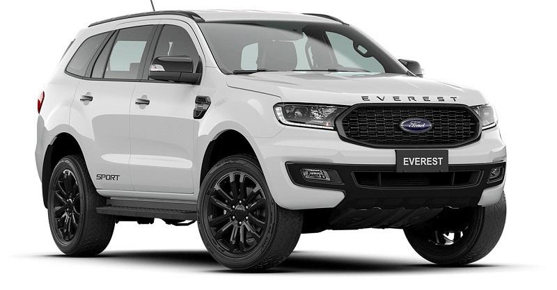 Màu Xe Ford Everest sport 2021-2022 moi mau trắng