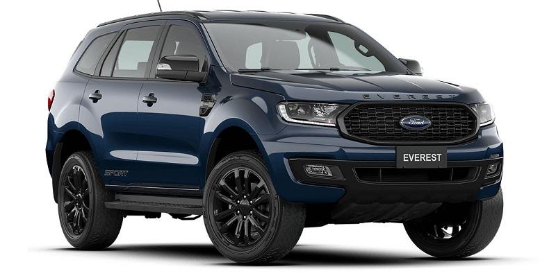 Màu Xe Ford Everest sport 2021-2022 moi mau xanh
