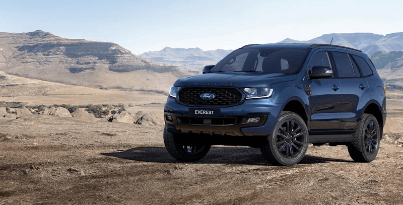 Tổng thể Ford Everest 2022 mới bản sport