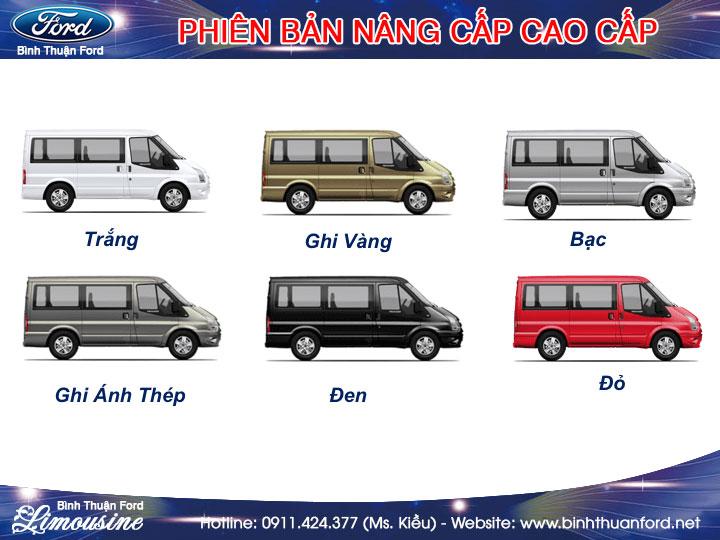màu xe ford transit limousine cao cấp