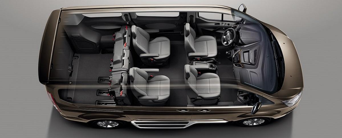 Kích Thước Nội Thất Bên Trong Xe Ford Tourneo Mới