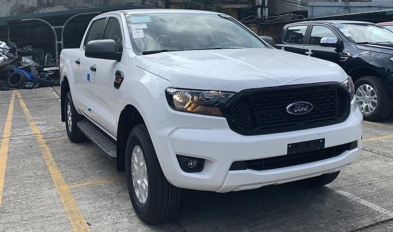 Hình ảnh ngoại thất ford ranger xls At 2021 2022 mới màu trắng tại ford Bình Thuận